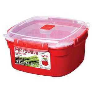 Sistema Microwave Steamer 2.4l £4 (Clubcard Price) @ Tesco