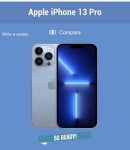 iPhone 13 Pro 256gb - 100gb Data / £159 Up Front / £47pm x 24 Months - Total Cost £1,287 @ Carphone Warehouse