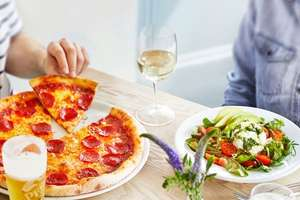 Three Course Meal with Glass of Wine for Two at Prezzo for £22.50 using code and £18 with AMEX credit at BuyAGift