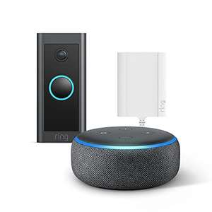 Ring Video Doorbell Wired + Plug-In Adapter by Amazon + Echo Dot (3rd Gen) – HD Video - £54 @ Amazon