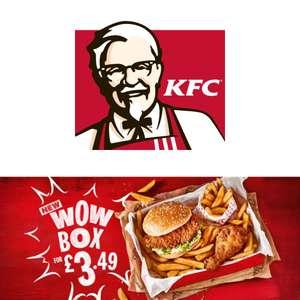 Wow Box for £3.49: Fillet burger + 1 piece chicken + fries @ KFC