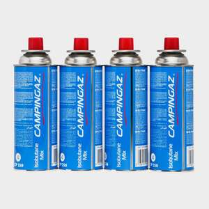 Campingaz CP250 Gas Cartridges 4-pack - 2 for £10 (8 Bottles Total / £4.95 delivery) @ Blacks