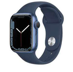 Apple Watch Series 7 (GPS), 41mm Blue Aluminium Case with Abyss Blue Sport Band £336.09 at Very