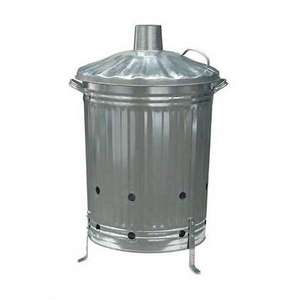 Garden Galvanised Steel Incinerator / Fire Bin - 85L - £16.45 + free Click and Collect @ Homebase
