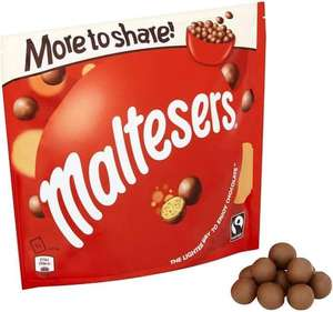 Maltesers/Revels/Galaxy Minstrels Large More To Share Pouches 189g - 240g are £1.50 Clubcard Price @ Tesco