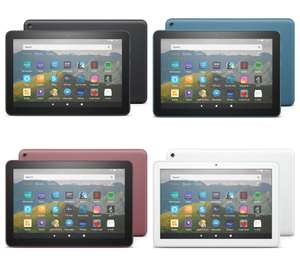 """Amazon Fire HD 8 Tablet (2020) with Alexa Hands-Free, Quad-core, Fire OS 7, 8"""", 32GB Black, Blue, Plum, White - £54.99 delivered @ Currys"""