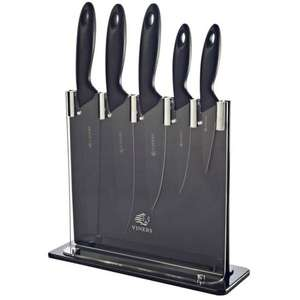 Viners Silhouette Six-Piece Knife Block Set - Black - £29.99 Free Click & Collect / £4.95 Delivery @ Robert Dyas