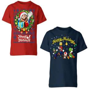 Nintendo Kids Christmas T-Shirts £6.99 + free delivery. with code 12 styles to choose From @ IWOOT