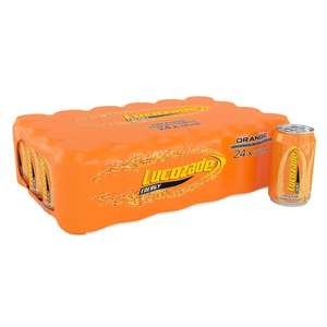 Lucozade Orange 24x330ml cans for £6.95 Instore or Online at Tesco