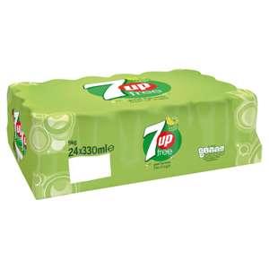 7Up Free 330ml x 24pack £6.45 @Tesco