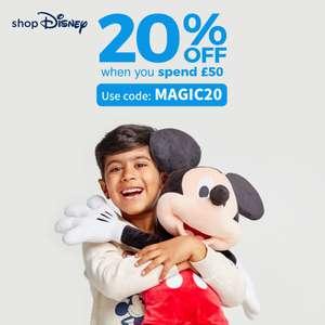 Shop Disney 20% off £50 spend with voucher code @ Shop Disney