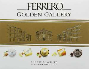 Ferrero Rocher Chocolate Golden Gallery Chocolate Hamper Gift Sets, 205g, 22 Assorted Chocolates £7.99 (Free Click & Collect from QDStores)
