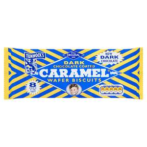 Tunnock's Dark Chocolate Coated Caramel Wafer Biscuits 8 x 30g 88p @ Co-operative