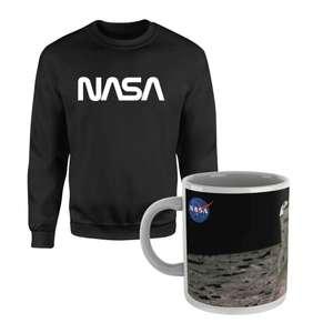 NASA - Sweatshirt and Mug £15 / Small fleece blanket and Mug £14 delivered with code @ IWOOT