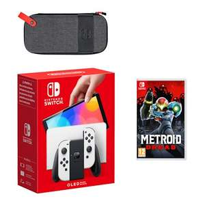 Nintendo Switch – OLED Model (White) Metroid Dread Pack £329.94 with StudentBeans code at Nintendo Store
