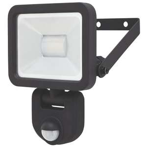 Lap Weyburn Outdoor LED Floodlight with PIR Sensor 10W 800LM - £6.49 + free Click and Collect @ Screwfix