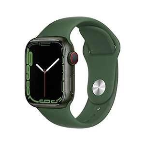 Apple Watch Series 7 (GPS + Cellular, 41mm) - Green Aluminium Case with Clover Sport Band - Regular - £369 @ Amazon