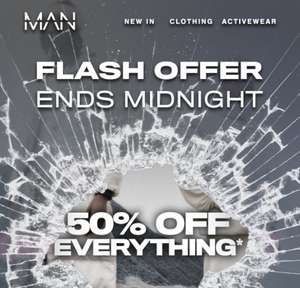 Flash Sale - Ends Midnight Today - 50% Off Full Price Items with code @ BoohooMAN