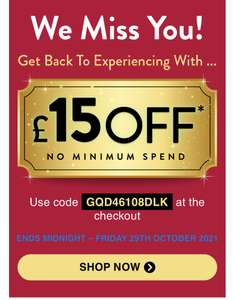 £15 off at BuyAGift with code - no minimum spend