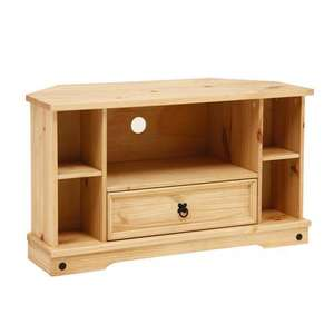 Corona Pine Corner TV Cabinet £35.28  at PineSoloutions (£9.99 Del of free over £500)