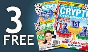 3 Free Puzzle Magazines from uniquemagazines.co.uk