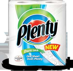 Plenty Kitchen Roll 2 Pack @ Savers only 69p with Coupon