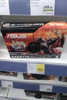 Asus 1GB Radeon HD 5770 CuCore £49.97 & 5850 - £79.97 @ PC World / Currys Instore