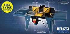 Router Table for 29.99 with 3 year warranty @ Aldi