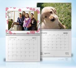 Personalised 2012 Wall Calendar for 99p at Vistaprint, desk calendar 39p