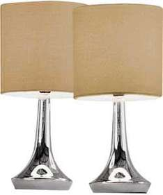 Colour Match Pair of Touch Table Lamps £11.19 @ Argos - Lots of different colours