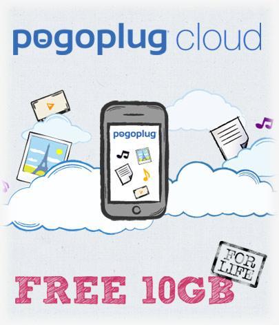 10GB free cloud storage on pogoplug, via cnet