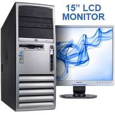 HP D530 Complete PC System inc 15 Inch LCD Monitor - P4 2.66GHz - 512MB - 40GB - CDROM - XP Pro Delivered for £92.99 @Bigpockets.co.uk