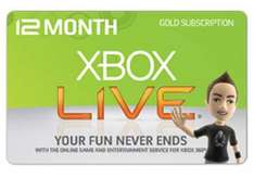 Xbox live gold 12 months subscription - £26.50 From Xbox menu for Silver members only, not available on xbox.com