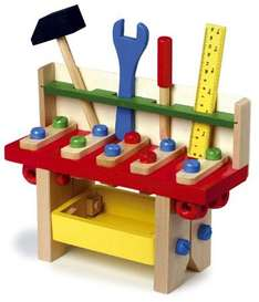 Wooden workbench toy £10 delivered @ Honeybee Toys