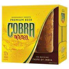 Cobra Indian 12X330ml £9.00 @ tesco