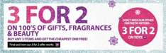 3 For 2 on 100's of Gifts, Fragrances & Beauty + 3 for 2 on Toys + Not forgetting Free Delivery to your local Collect+ Store @ Very