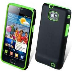 GREEN SILICONE CASE COVER FOR SAMSUNG GALAXY S2 (SGS2) + SCREEN PROTECTOR, ebay carestia-accessories £0.99