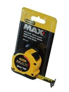 Stanley Max Tape Measure 3m / 10ft AirLock 33-919 - *Todays Deal of The Day* - only £1.28 delivered @ Brooklyn Trading