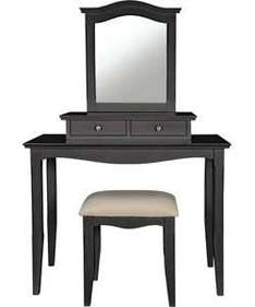 Provence 2 Drawer Dressing Table, Stool and Mirror - Black £99.99 Save 1/3 was £149.99 @argos