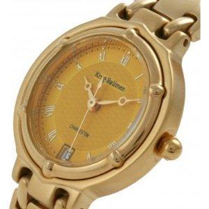 Krug Baumen 5120KL Ladies Charleston Yellow Gold Watch - Save £476.01 (94%) Fulfilled by Amazon