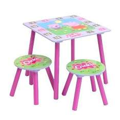 Peppa Pig Table & Stool Set £22.98 delivered @ Home Bargains