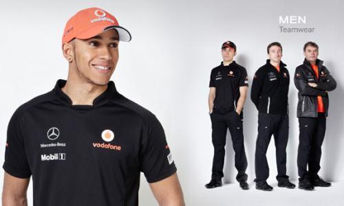 Vodafone McLaren Mercedes official eshop 50% off Teamwear + Extra 5% Off