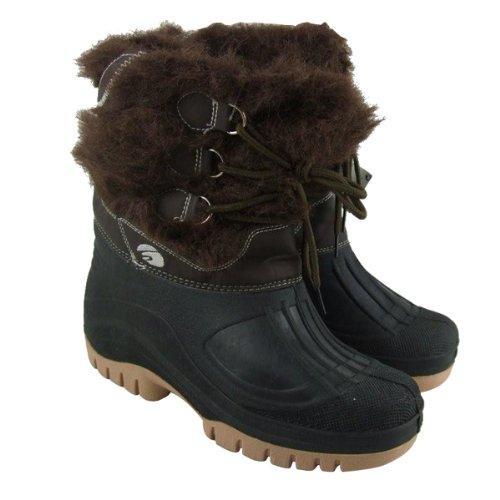 New Ladies Winter Snow Warm Mucker Boots Rain Wellies Womens Size UK 4-8 - Amazon - RRP £39.99