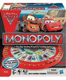 Disney Pixar Cars 2 Monopoly Board Game Half Price @ Argos £12.49 + Free Cars 2 Poster with any Cars product.