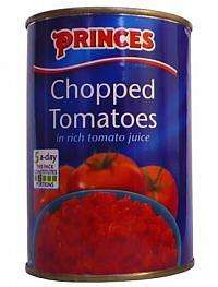 4x 400g Pack of Princes Chopped Tomatoes only 92p @tesco...instore only