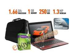 Acer Aspire One D257 1GB 250GB Netbook with free Webroot Security and free carry bag - only £179.99 delivered @ eBay Ebuyer Express