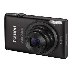 Canon IXUS 220 HS Digital Camera plus free camera wrap - Silver or red £129.95 Less £20 Cashback @ Amazon