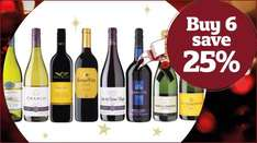 Save 25% when you buy 6 or more bottles of wine/ champagne @ Sainsburys