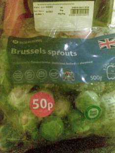 sprouts pack 500g only 50p at morrissons