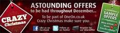 oneon.co.uk crazy christmas!!!! prices from.... FREE!!!!!!